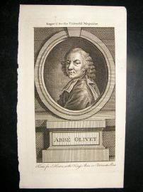 Abbe Olivet C1780 Antique Portrait Print